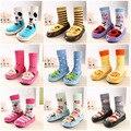 17 cores Do Bebê quente slip-resistente piso De Couro andando meias meias infantis do miúdo das meninas dos meninos inverno quente unisex para as crianças