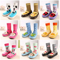 17colors Baby warm slip-resistant Leather floor walking socks kid's infant socks boys girls winter warmer unisex for children