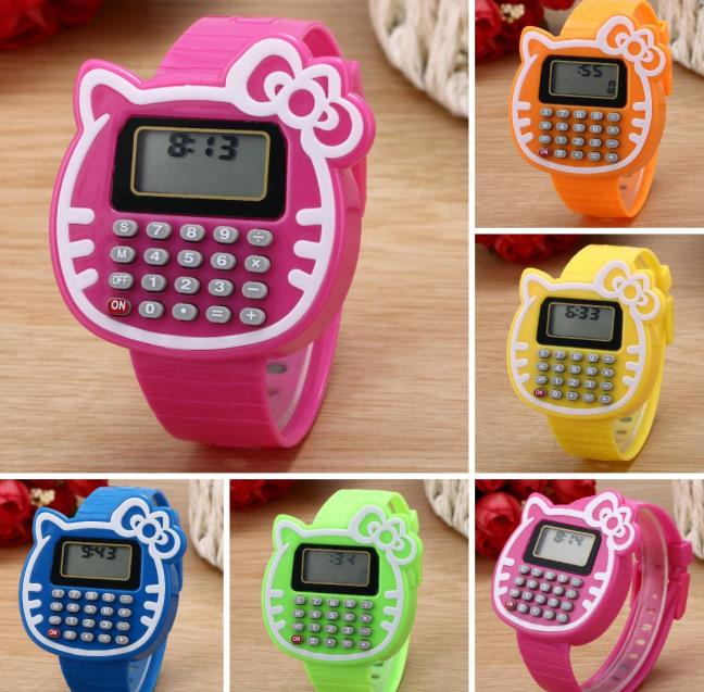 Watches For Kids 2016 New Relogio Clock Girls Digital LED Watch Silicone Sports Watch Date Multifunction Kids Watches Calculator