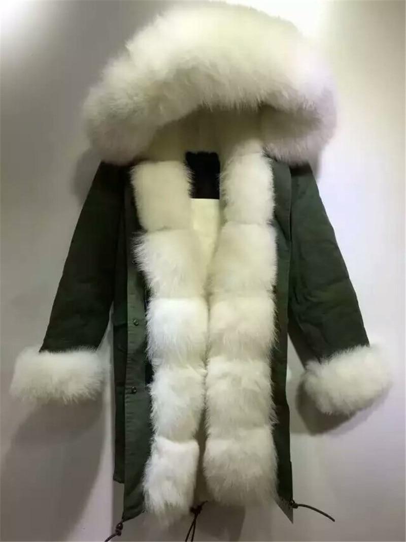 Pielāgots jauna stila ziemas biezas siltas kažokādas noņemamas - Sieviešu apģērbs