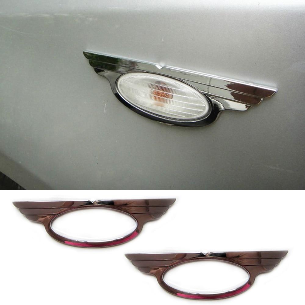 For Nissan Juke 2010-2018 ABS Chrome Side Turn Signal Light Trim Cover Molding Garnish Decoration 2011 2012 2013 2014 2015 2016