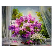 DIY Digital Oil Painting,Home Decoration Drawing,Blooming Flower,Painting By Numbers