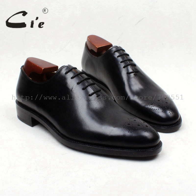 cie Round Toe Cut-outs Solid Black 100%Genuine Calf Leather Outsole Breathable Goodyear Welted Men's Shoe Dress Work Flat OX657 купить часы haas lt cie mfh211 zsa
