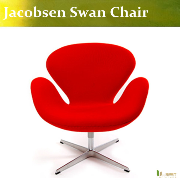 U BEST Modern Hotel Lobby Living Room Red Fabric Swan Chair,comfortable  Chair In Meeting Room Conference Room Sales Department