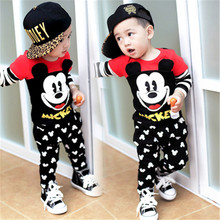 2017 new Boys clothing sets hello kitty  Baby Sets cotton Children tracksuits Kids sport suits cartoon coats/sweatshirts+pants