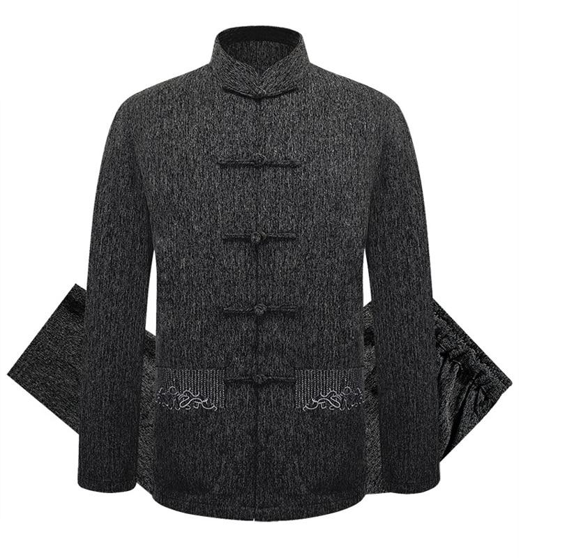 Brand New Arrival ChineseTraditional Men's Solid Cotton Linen Suits Sets Coats+Pants M L XL XXL 3XL MTJ070202