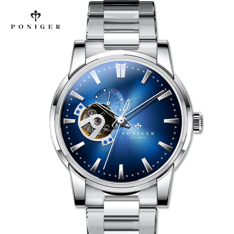 Luxury Brand Men's Watch PONIGER Japan Original NH39A SII Automatic Mechanical Watches Men 50M Waterproof Sapphire Clock P519 5|Mechanical Watches| |  - title=