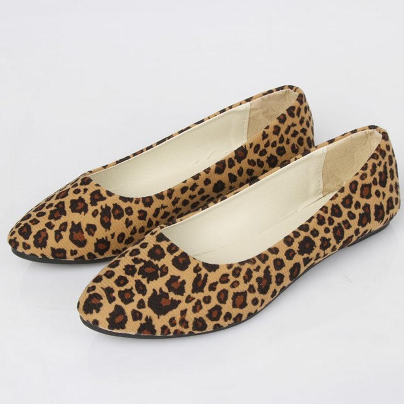 Ballet Grande on Pointu Dames Bailehou Beige Taille Slip Femmes Appartements Léopard Mocassins Mode Bout Chaussures kaki Occasionnels Femme wnnxSFgqI