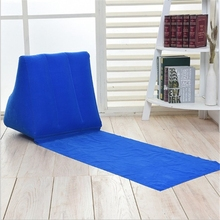 Opblaasbare Strand Mat Festival Camping Leisure Lounger Terug Air Kussen Kussen Stoel Lounge Kussen Draagbare Relax Couch