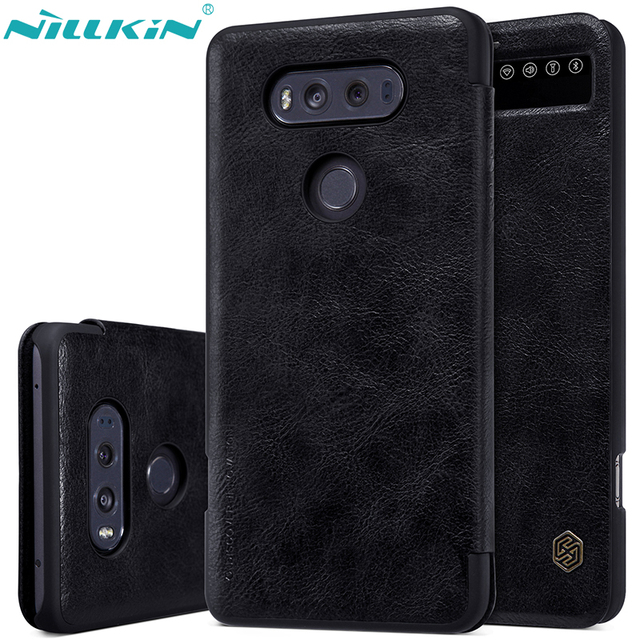 the best attitude 8a848 15943 US $9.89 10% OFF|For LG V20 Case H990DS H910 Leather Case NILLKIN Luxury  Retro Quality Hard PC Back Cover Flip Smart Sleep Windows Phone Cases-in  Flip ...