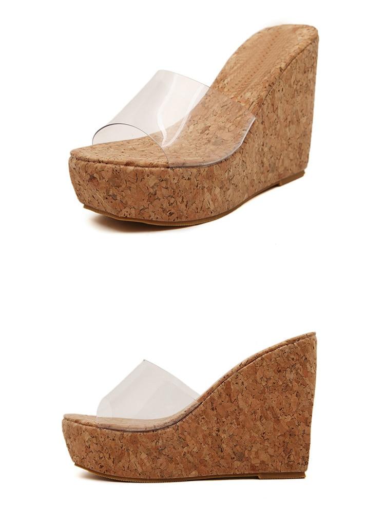 HTB1kHz eHGYBuNjy0Foq6AiBFXag Eilyken 2019 New Summer Transparent Platform Wedges Sandals Women Fashion High Heels Female Summer Shoes Size 34-40
