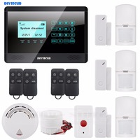 433 GSM MHz SMS Wireless Sensor Home Alarm System LCD Screen Home Intruder Voice 850 900