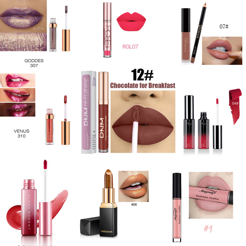 Stock Clearance!!! Glitter Liquid Lipstick Matte Shimmer Lipstick Set Waterproof Long Lasting Lip Tint Makeup Professional Lip