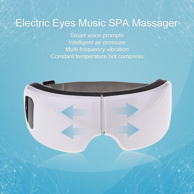 Eyes Care Tool 6S Wireless USB Rechargeable Bluetooth Foldable Eye Massager Adjustable Air Pressure Eye Protector Christmas Gift in Face Skin Care Tools from Beauty Health
