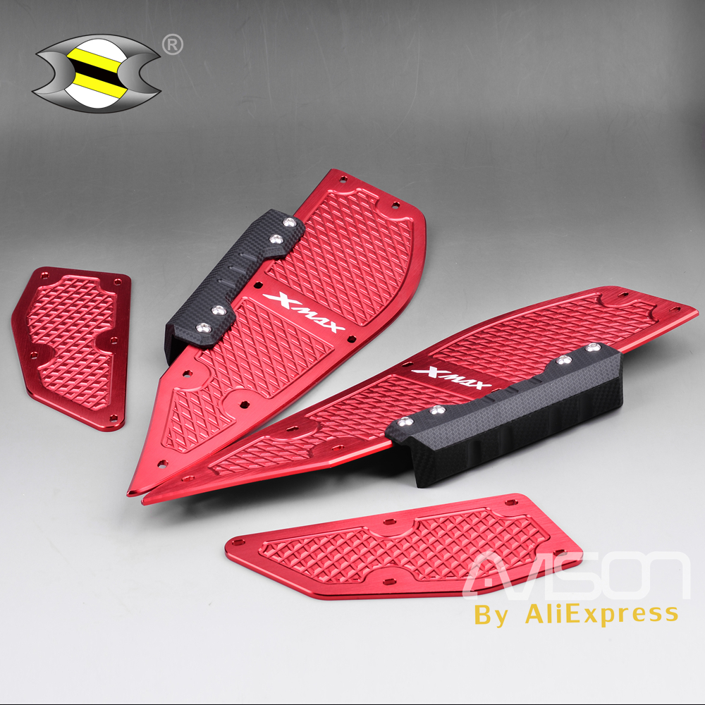 For Yamaha XMAX X Max X-MAX 250 300 2017 2018 Motorcycle Modified Parts Mats CNC Footrest Footpads Aluminum Alloy Pedal Plate