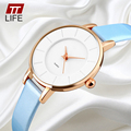 TTLIFE Mulheres Moda Casual Quartz Relógio de Senhora de Couro PU Relógios De Pulso Relogio Feminino Montre Femme Reloj Mujer Mulheres Relógios