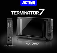 RUIGE Action HL 700HD 7 inch Highlight Field monitor HD SDI HDMI Monitor with 3G Lut / focus/ false color for 4K video film
