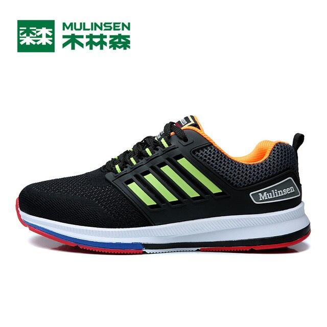 huge discount d4aad 7f685 MULINSEN Sapatos Atlético Tênis de Corrida dos homens Voar Tecelagem  Conforto Luz Runing Velocidade Sapato de