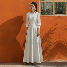 VERRAGEE floor length dress vintage white maxi women 2019 new Long elegant Dress