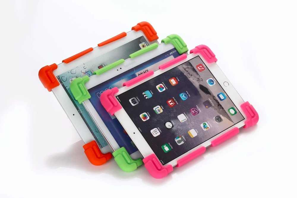 Fashion Universal Silicone Cover Case For 9.7 10 10.1 10.2 10.5 10.8 11 11.6 Inch Android Tablet PC Mar22 Drop + pen + stand