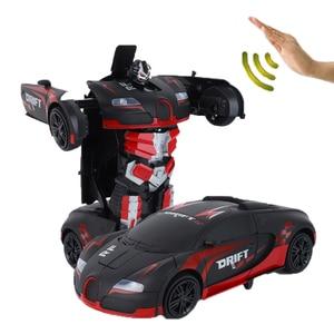 Image 3 - 新しいおもちゃ 2019 1/12 ラジオコントロール車光と音楽つや消しスタイルジェスチャーセンサー rc カー変換ロボット車