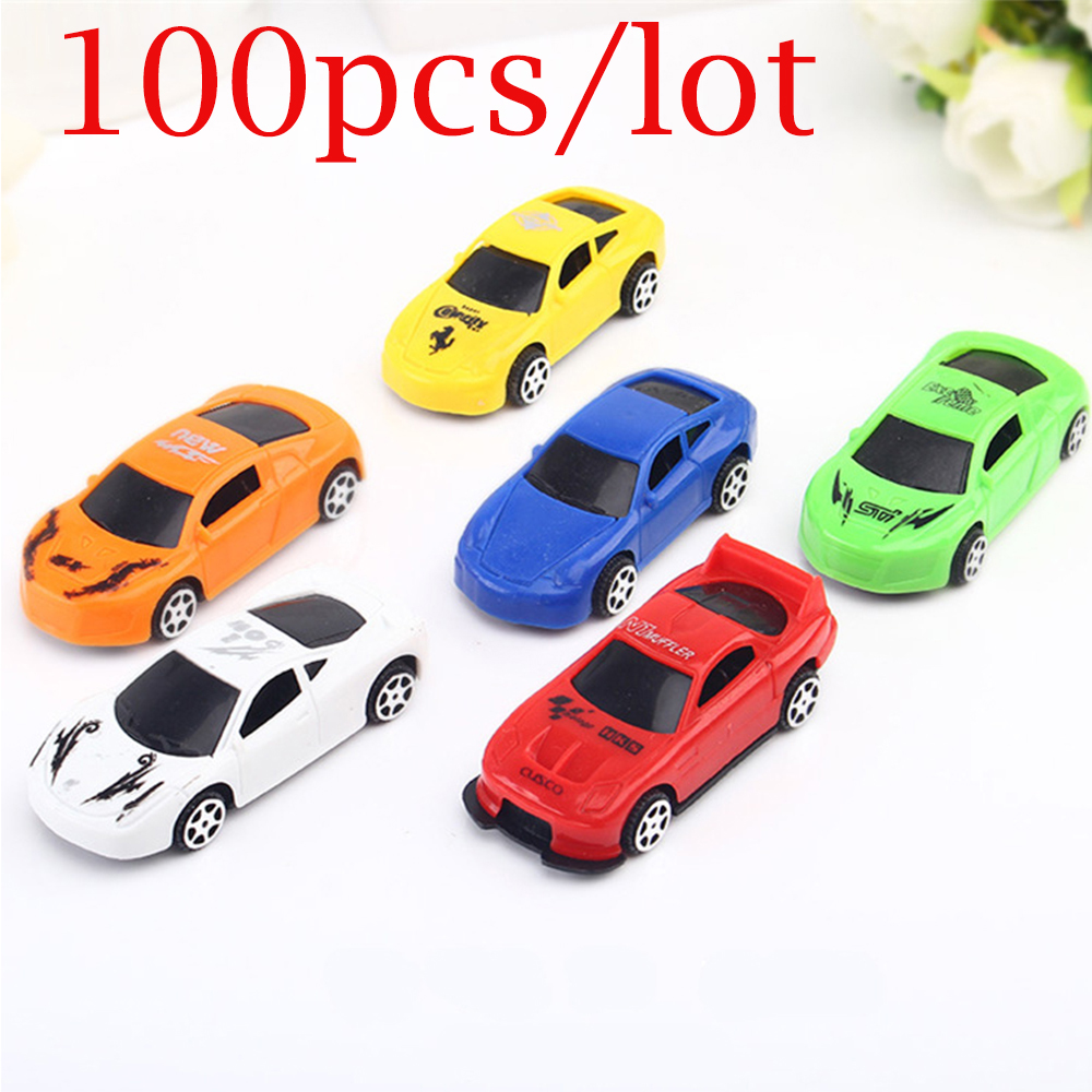 100 pcs/lot Mini Pull Back Car Toys For Kids Racing Model No Battery Required Funny Childrens Christmas Gifts Dropshipping