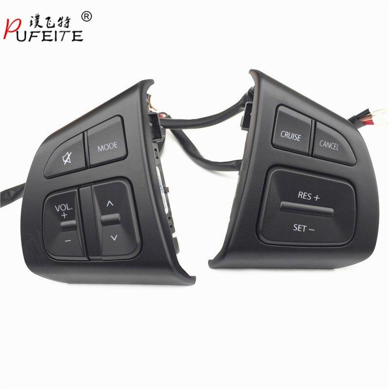 PUFEITE Multifunction Steering Wheel Switch Button Audio Volume Cruise Speed Control Switch Button For Suzuki Swift