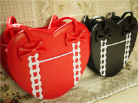 Girls Womens Lolita Sweet Heart Shaped Bowknot Handbag Makeup Should Messenger Satchel Purse Bags 6Colors A832