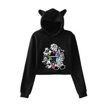 Undertale Sans Cartoon Hoodie Pullovers Women Korean Style Kpop Cat Ear