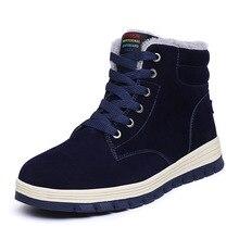 2e94ded78 Zapatos para hombre zapatos de invierno 2019 nuevo de la nieve botas  cómodas mantener caliente deporte