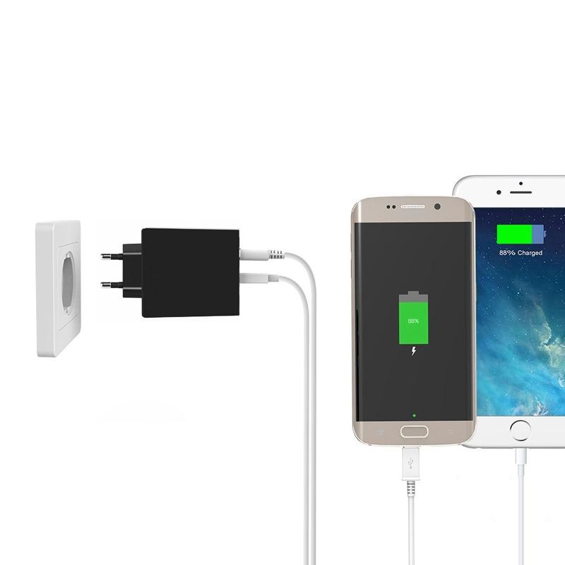 INGMAYA USB-laddare 3-port LED-skärmladdning 2.4A för iPhone iPad - Reservdelar och tillbehör för mobiltelefoner - Foto 6