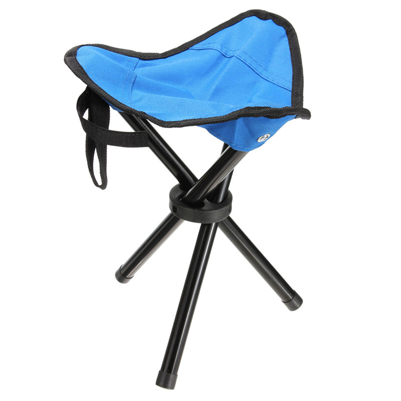 Outdoor Portable Lightweight Camping Hiking Fishing Folding Chair Picnic  Garden BBQ Stool Tripod Three Feet Chair Seat 4 Color In Outdoor Tools From  Sports ...