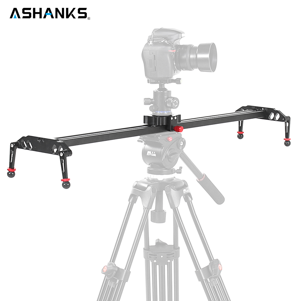 ASHANKS 24/60cm DSLR Camera Slider with Ball-bearing Typed Rail System Video Damping Dolly Slide with 10kg Load for Photography ashanks professional aluminum camera tripod mini portable monopod with ball head for dslr photography video studio load 10kg