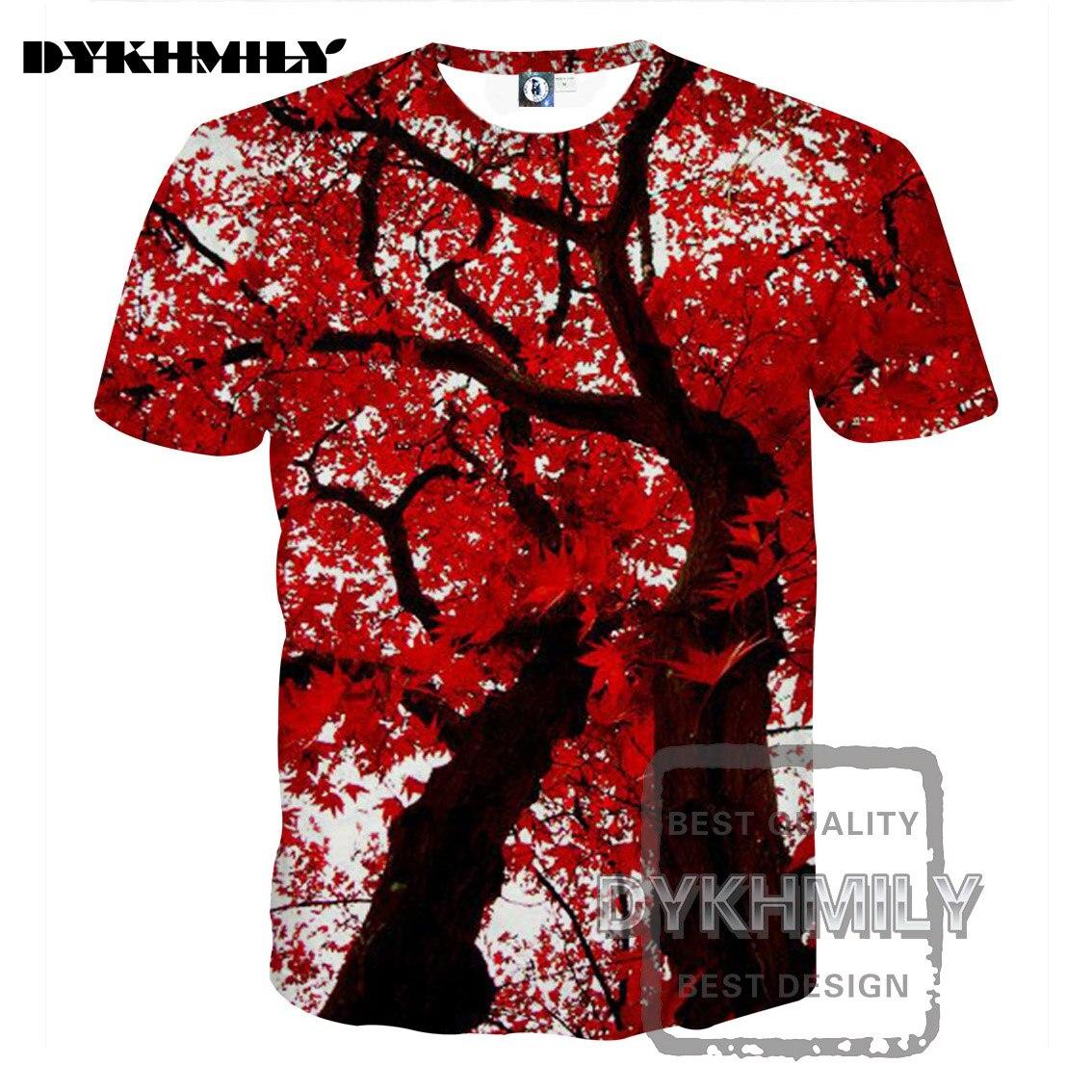 Decorador de arboles de navidad 187 home design 2017 - Dykhmily 2017 Full Print Camiseta Del Verano Tops Impresi N 3d Arce Rbol Del O Cuello