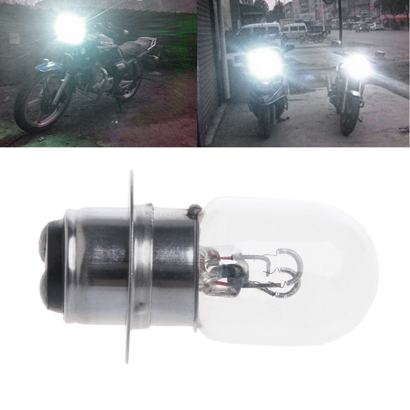 1Pc T19 P15D-25-1 DC 12V 35W White Motorcycle Headlight Lighting Double Filament Bulb For Motorcycle Accessories