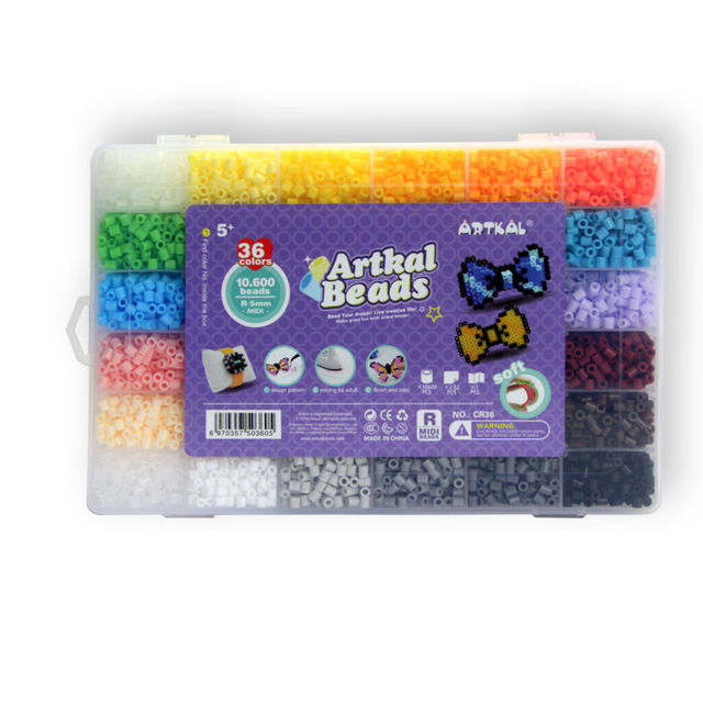 Exclusive Soft Artkal Fuse Beads 36 Color Box Set Midi Perler Beads Family Intelligence game For kids CR36