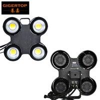Gigertop舞台照明防水ledオーディエンスファインプレー4ヘッドステージライトプロジェクターディスコブラインダー光防水ファン冷