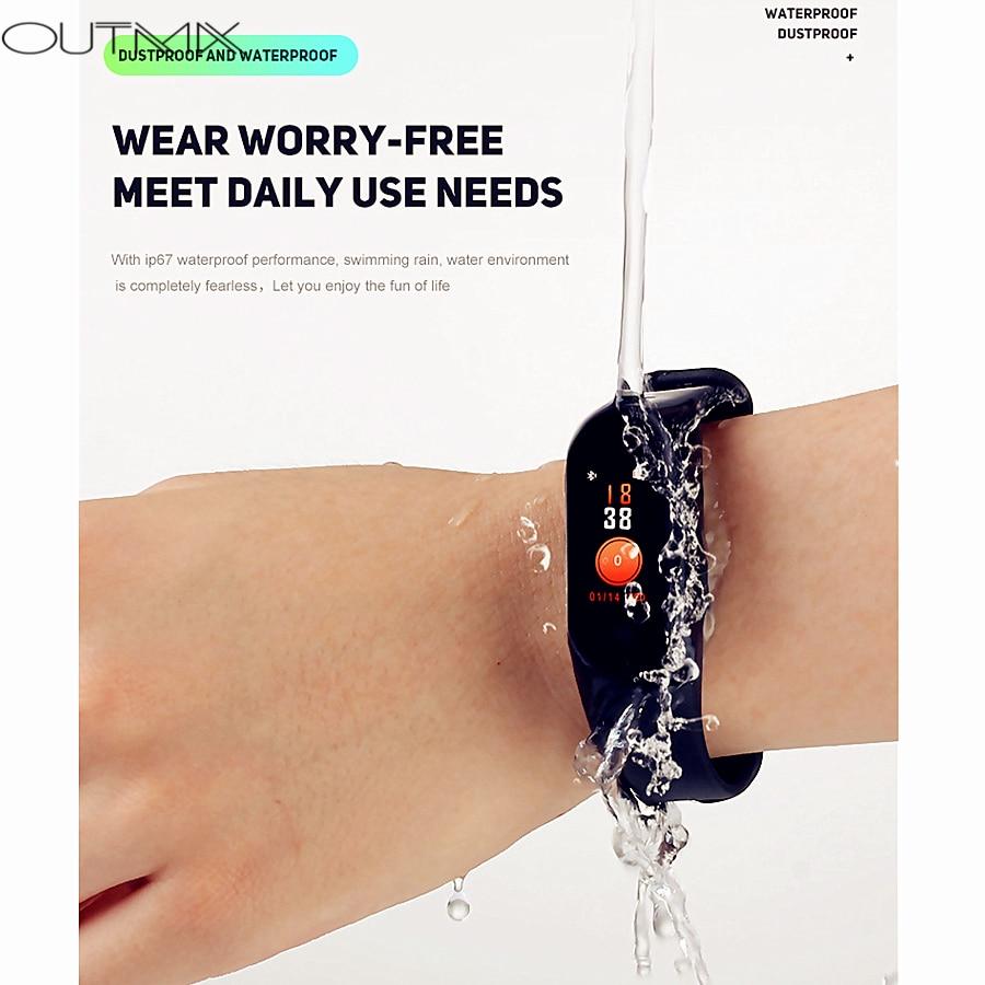 OUTMIX M3 Pro Smart Band Waterproof Fitness Tracker Smart Bracelet Blood Pressure Heart Rate Monitor PK Mi Band 3