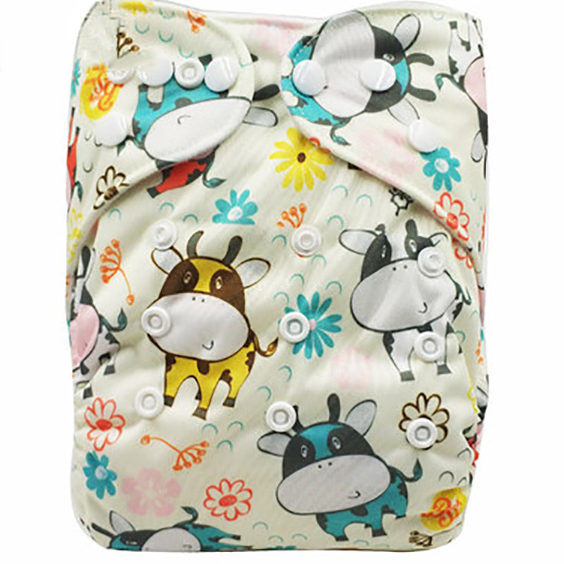 Baby Washable Cloth Diapers Cover Children Adjustable Nappy Reusable Cloth Breathable Diapers Available For 0-2years 3-15kg Baby