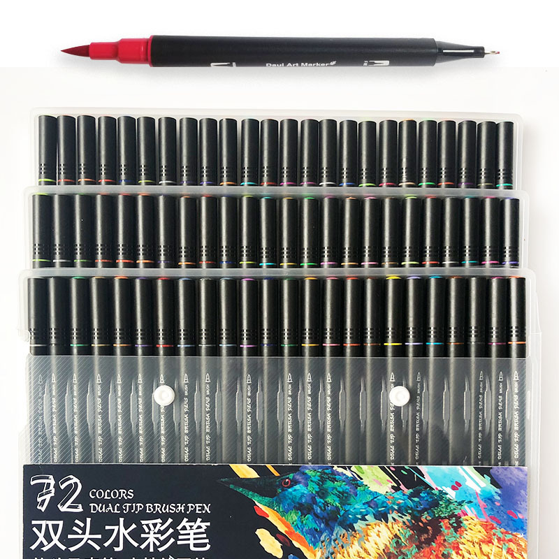 Art Marker for Drawing Sketch Painting Set Dual Brush Pen Watercolor Markers 48/60/72/100 Colors Professional Markers For ArtistArt Marker for Drawing Sketch Painting Set Dual Brush Pen Watercolor Markers 48/60/72/100 Colors Professional Markers For Artist