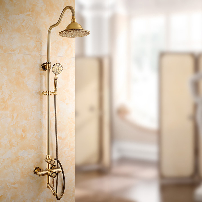 Shower Faucets Luxury Bath Shower Sets Bathroom Wall Mounted Hand ...