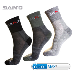 SANTO Brand Quik Drying Men Outdoor Sports Socks COOLMAX Socks S008