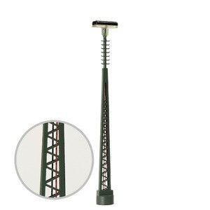 Image 5 - 3 個 N ゲージランプポスト 80 ミリメートル 1:150 はしご街路灯魚骨型ポストモデル鉄道列車 led ミニチュア LQS64N