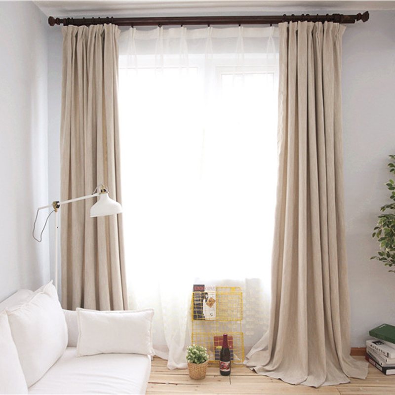 Insulated Solid Color Window Curtains For Living Room
