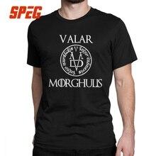 Game Of Thrones T Shirt Arya Stark Valar Morghulis Man Retro 100% Cotton Short Sleeves Tees O Neck T-Shirts Clothes Plus Size цена и фото