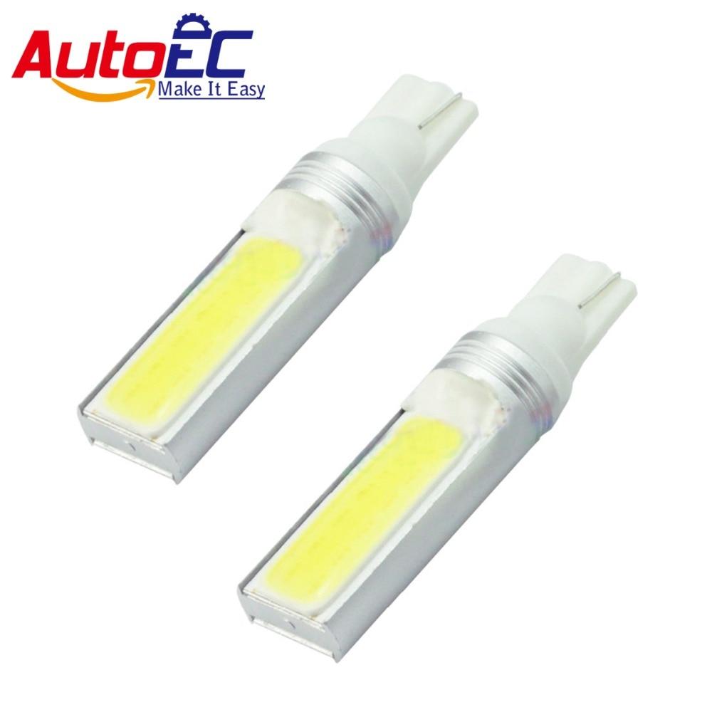 AutoEC 2x T10 7.5w COB LED Xenon White Car Clearance Lights Exterior turn signal warning lights lamp dc12v #LB118
