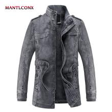 MANTLCONX 2019 Men's PU Jackets Coats Autumn Spring Winter Faux Leather Jacket Men Clothes Thick Velvet Coats Fashion New Design