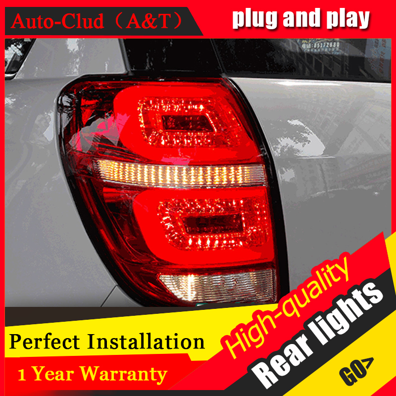 Auto Clud Car Styling for Chevrolet Captiva Taillights 2008-2015 Kaptiva LED Tail Lamp LED Rear Lamp DRL+Brake+Park+Signal led l car styling tail lights for chevrolet captiva 2009 2016 taillights led tail lamp rear trunk lamp cover drl signal brake reverse