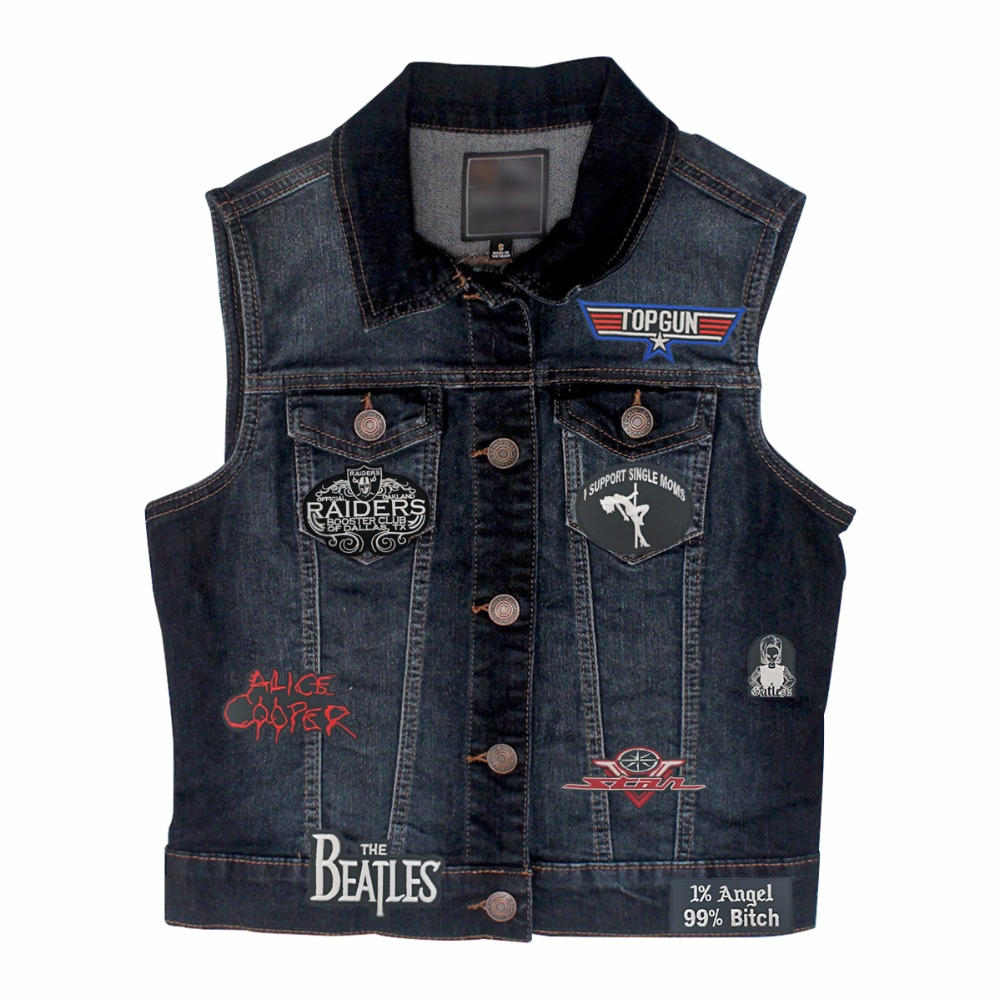 G0104 (5) Wholesale I Support Single Moms Quality Motorcycle Embroidered Patch Biker Vest Patch DIY Applique Embroidery Accessory 3.5 inches