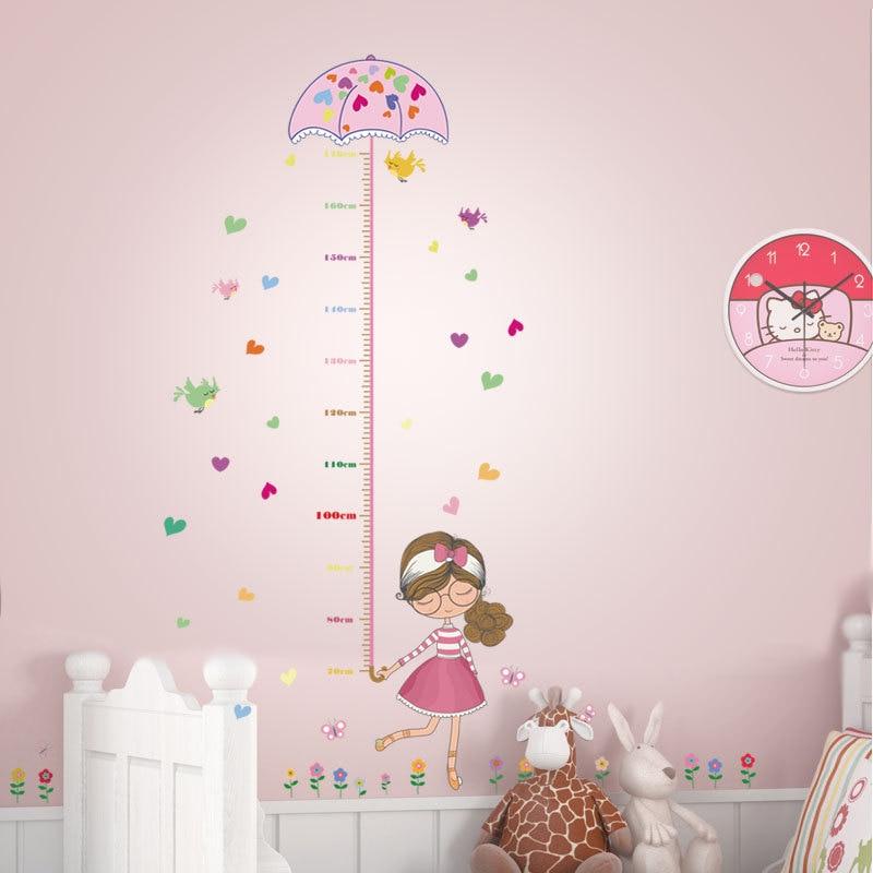 Decoratie Kinderkamer Meisje.Diy Giraffe Hoogte Grafiek Meet Muurstickers Pvc Wanddecoratie